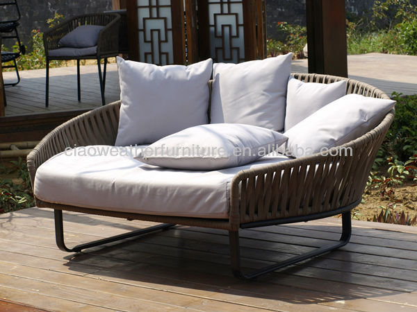 Hot Wicker Rattan Bali Bed Outdoor