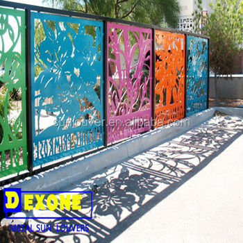 Aluminum Laser Cut Outdoor Metal Screen For Fence Or