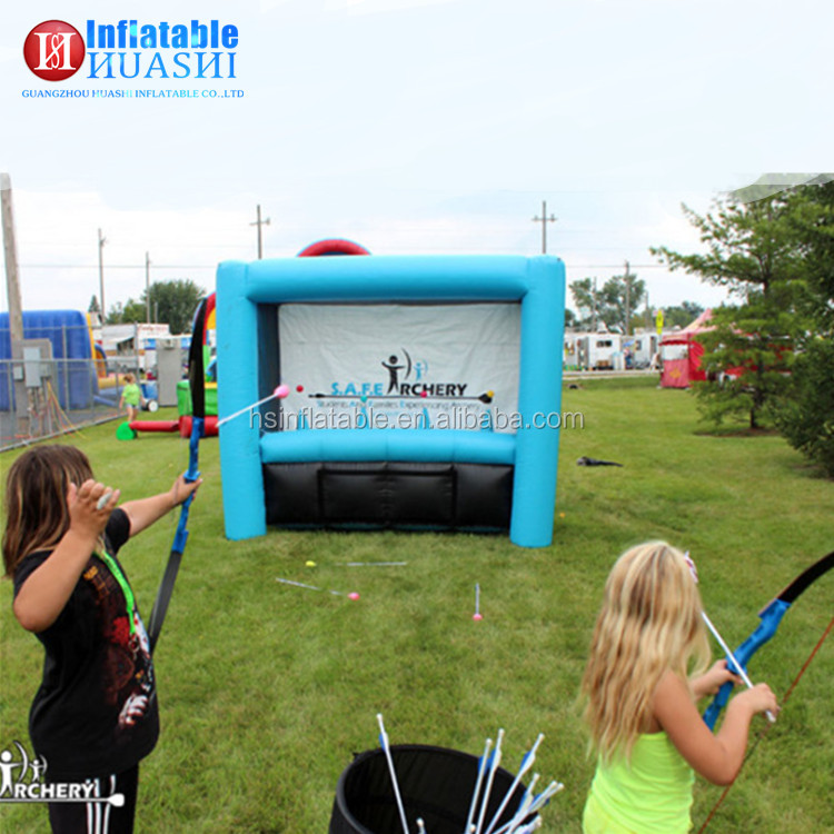 Attractive kids n adults outdoor sport games cheap inflatable archery for sale