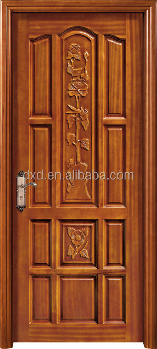 Solid teak wood main door design teak wood carve door for Main door design of wood