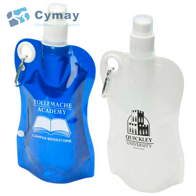 Promotion custom logo cheap plastic fashion outdoor foldable water <strong>bottle</strong> with print