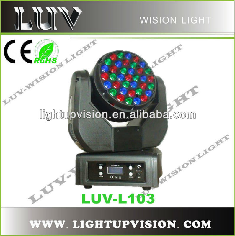 37x3w LED beam rotating stage light