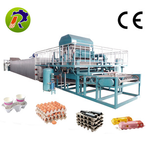complete egg tray production line paper egg tray egg carton pulp moulding machine with robot arm
