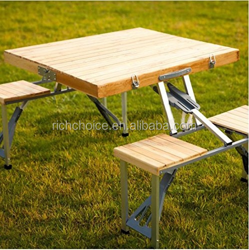 Fantastic Portable Folding Wood Picnic Table With 4 Bench Seats Buy Folding Wood Picnic Table Outdoor Garden Table Kids Wood Picnic Table Product On Gamerscity Chair Design For Home Gamerscityorg