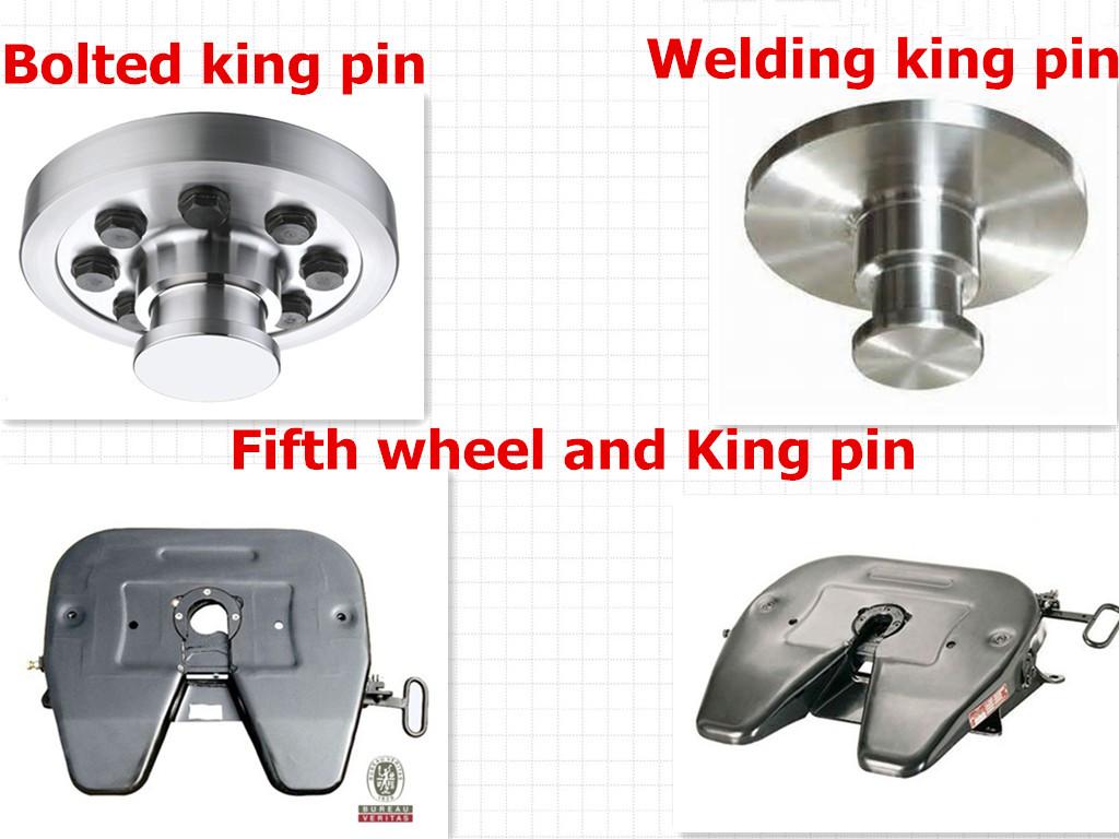 Heavy duty vehicle tractor hitch pin 2 inch king pin locks