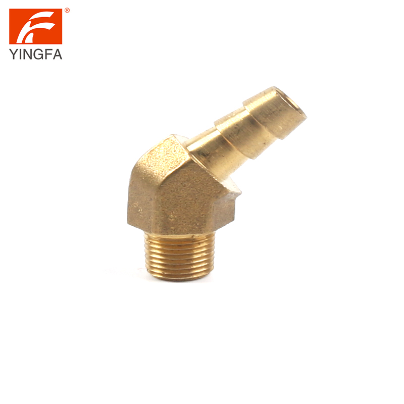 66108-64 Brass Hose Barb to Male 30 degree 45 degree 60 degree pipe fitting Elbow