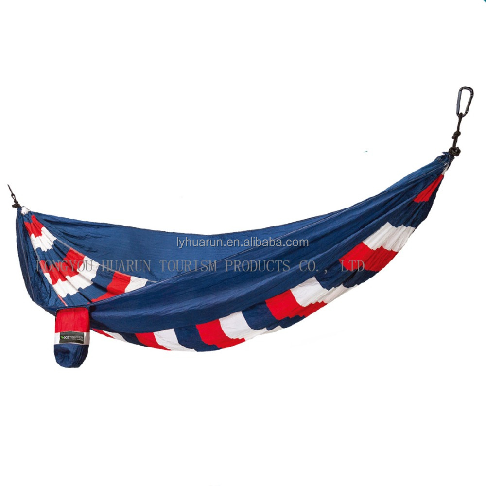 HR lightweight printing Double Camping Parachute Hammock