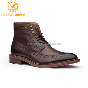 hot sale fashion men boots shoes lace up desert cowboy leather men boots leather men boots shoe