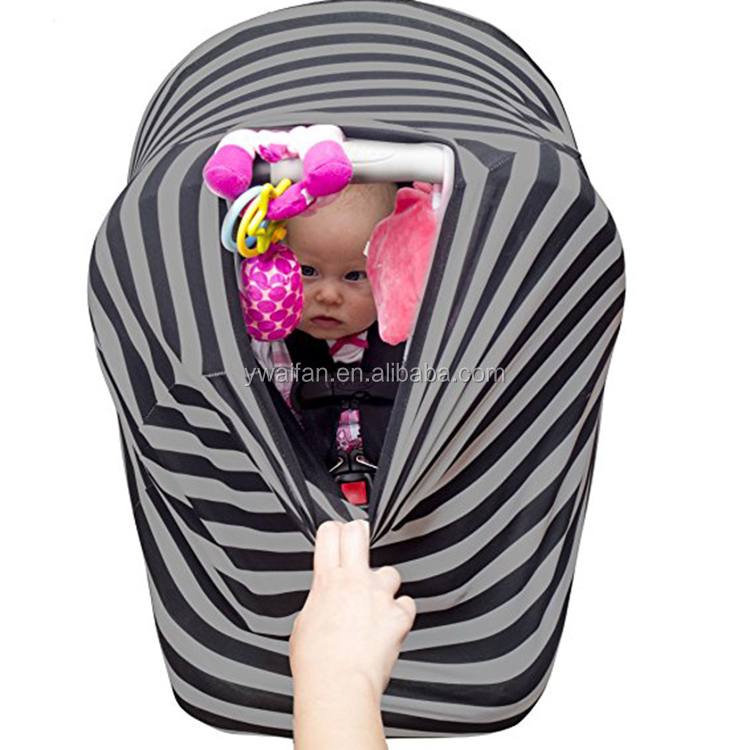 Car Seat Canopy Cover Scarf Multi-Use Stretchy Breastfeeding Baby Car Seat Cover