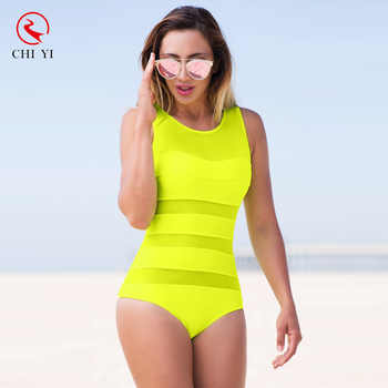 uk cheap sale great prices soft and light Plain Neon Green Color Layered One Piece Swimsuit For Women - Buy Plain  Color Layered One Piece Swimsuit,One Piece Swimsuit For Women,Layered One  ...