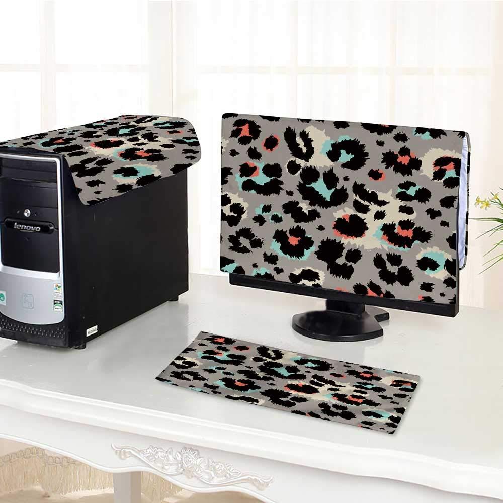 "UHOO2018 Flat Screen Protector 3 Pieces Leopard Anti-Static Vinyl /32"""