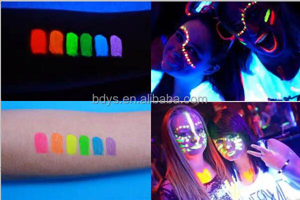 Paint Glow Uv Glow Neon Face   Body Paint 6 Colour Mixed Set - Buy ... 20b6c60272