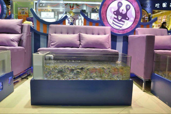 Acrylic fish pedicure tanks buy fish spa aquarium for Fish pedicure price