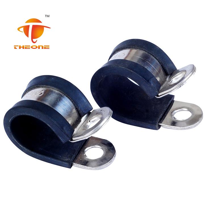 스테인레스 스틸 소재 P 유형 호스 클램프 고무
