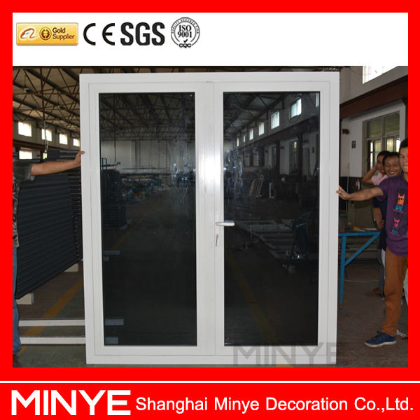 Security Gate For Patio Doors Thermal Break Aluminum Alloy Double Casement  Door With Double Tempered Safety