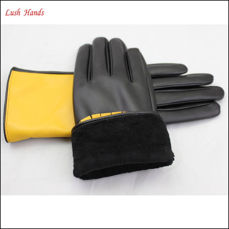 imitatation leather women dresses new fashion ladies dress glove