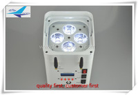 easily moved portable 4x12w rgbwa uv 6 in 1 small battery led par wifi controll wireless controll