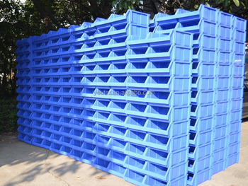 warehouse spare parts stackable storage box bin