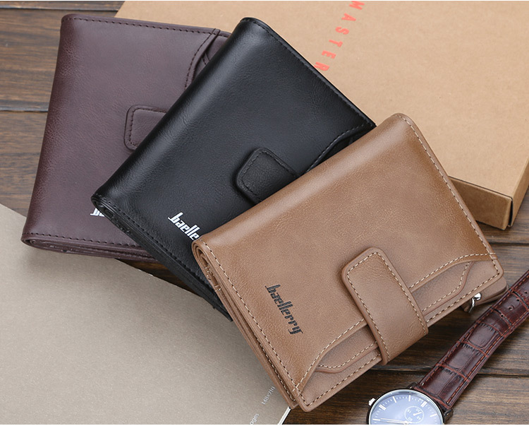 Baellerry 2019 New Style Men's Short Section PU Leather Wallets,Blocking Card Purse For Man