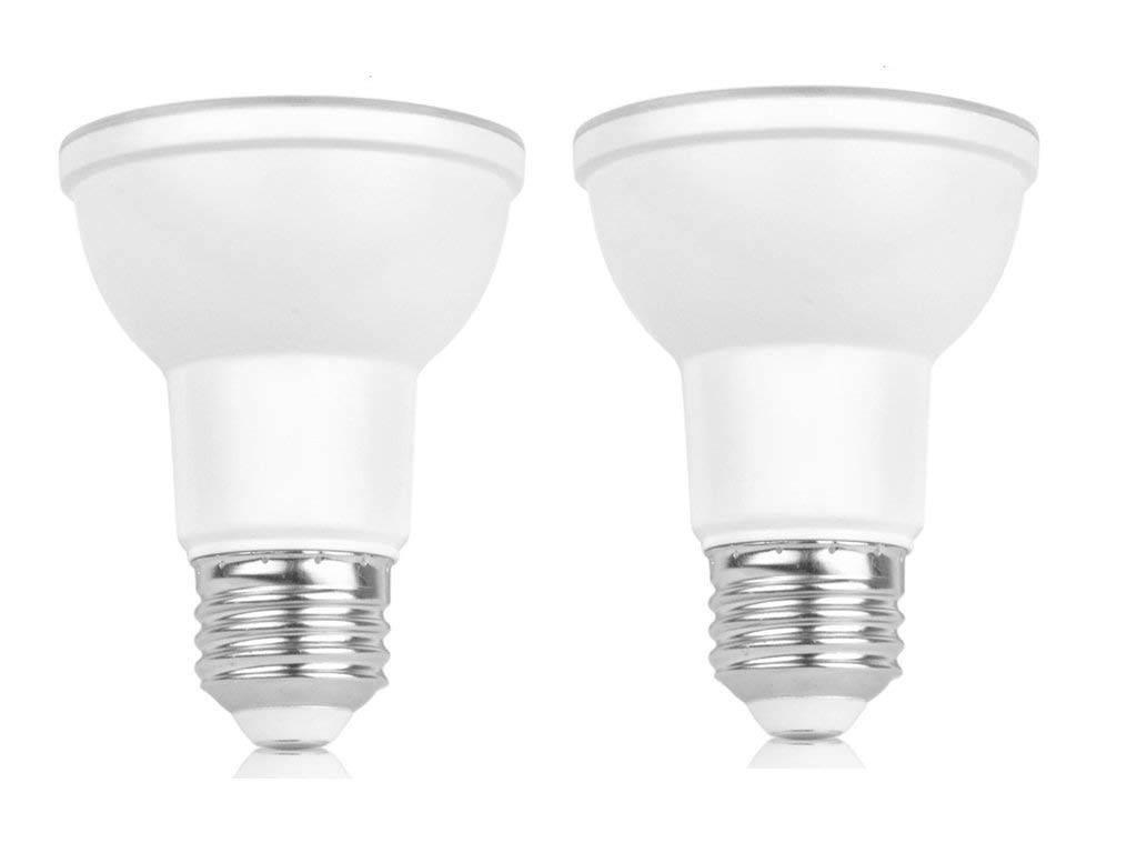 2-Pack PAR20 Led Spotlight Light Bulbs,Dimmable,7W (50W Equivalent),3000K (Warm White Glow),40 Degree Beam Angle, Medium Base (E26),550LM,UL-listed and Energy Star Approved