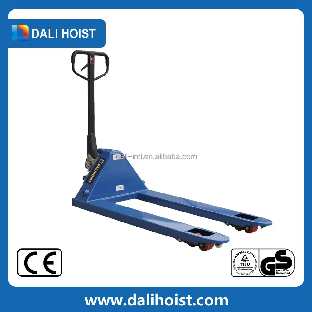 small 1t hand pallet truck with PU wheel