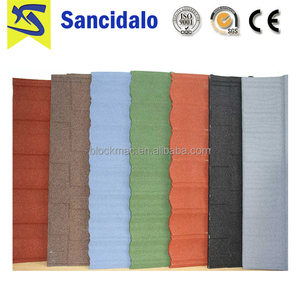 Tegula roof tile/stone slate roof tiles/stone coated metal roof tile steel roofing indonesia