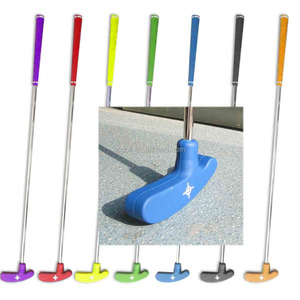 different size High quality assorted color rubber head Kids mini golf course double face golf putter