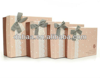 luxury christmas cardboard gift box with lidcustom design gift box packaging4pcs as