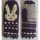 Lovely Winter Mitten Gloves Purple Cute Children Warm Winter Acrylic Mittens