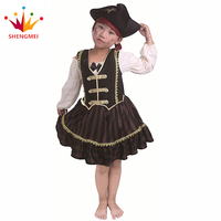 Factory Directly Selling Halloween Cheap Children'S Pirate Fancy Dress Dance Us Costume For Girls