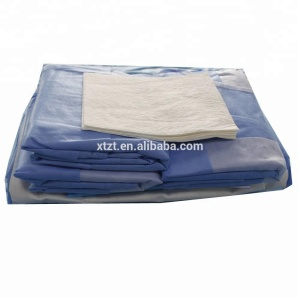 Sterile Medical Cardiovascular Transplantation Surgical Drape Pack Kit