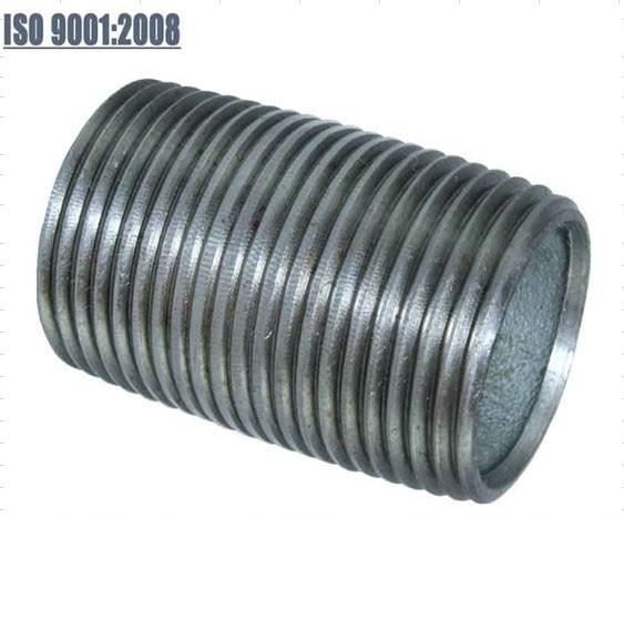 Long thread carbon steel nipple doube