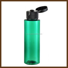 Cosmetic plastic bottle packaging with flip top cap