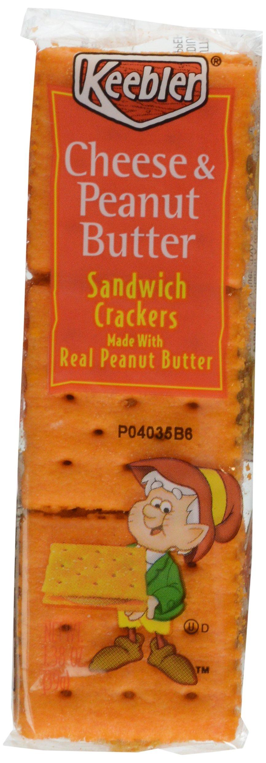 Keebler, Cheese & Peanut Butter Cracker Pack, 8 ct, 11.4 oz