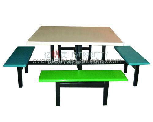 India Style School Table And Chair Used Fast Food Outdoor Restaurant  Furniture