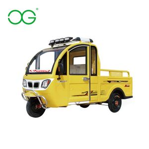 Electric 3 wheel small used pickup cars for cargo/hub motor electric motorcycle van three wheel cargo tricycle/smart car pickup