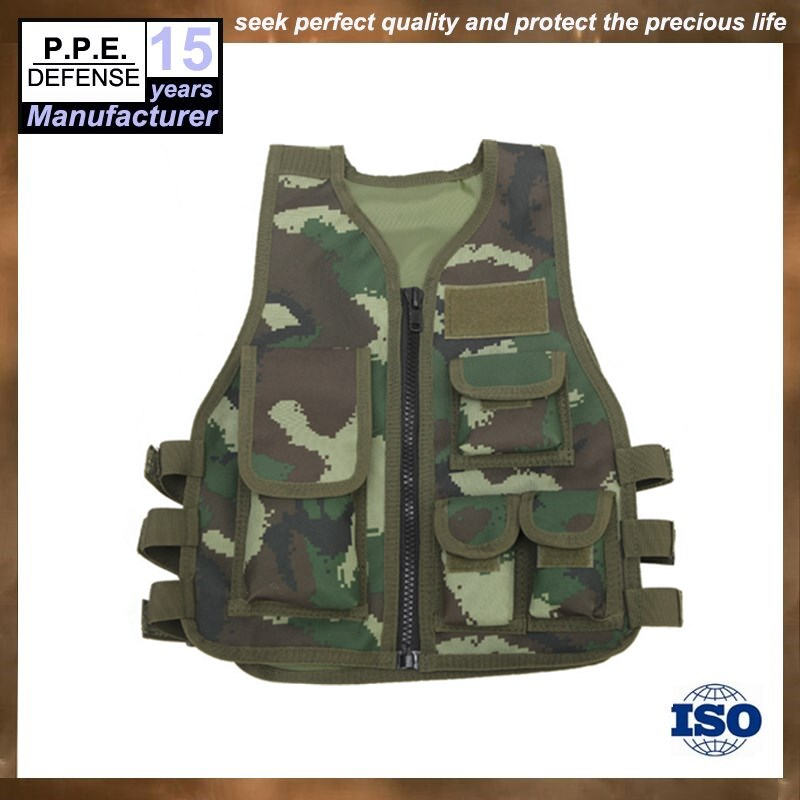 Tactical CS camouflage child waistcoat for outside protection equipment