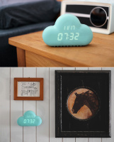 CE HOT digital clock home decor LED clcok fashion alarm clock wall table clock with high quality