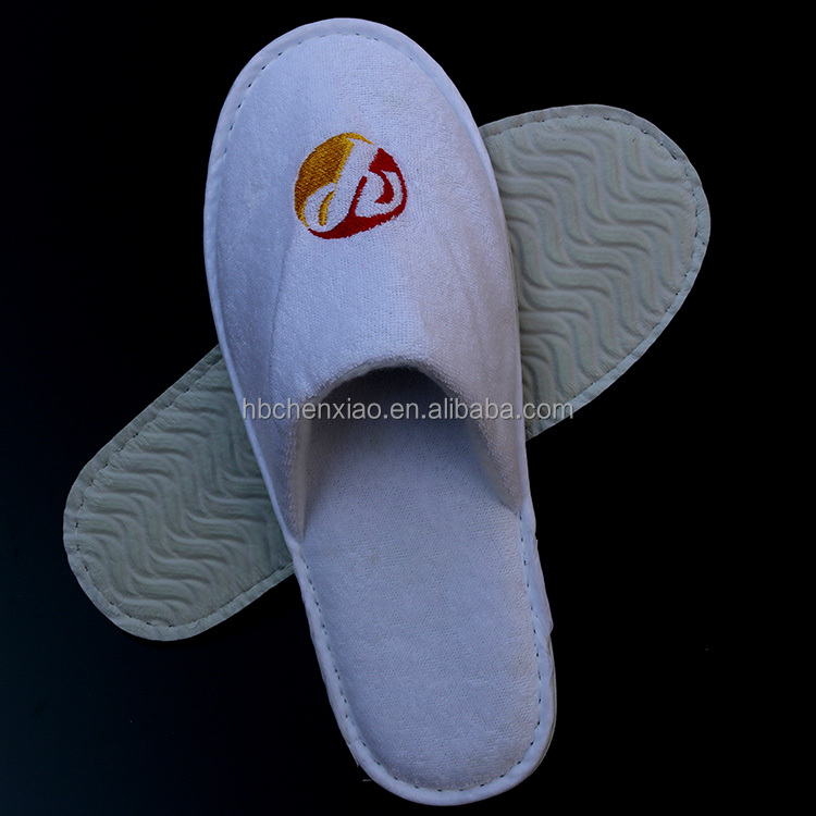 Luxury terry towel slippers for hotel