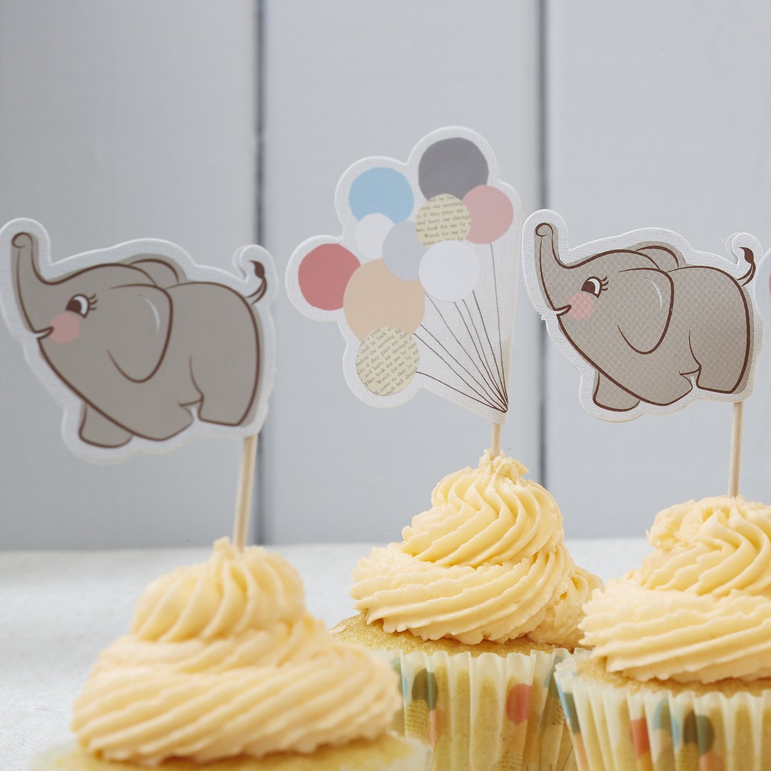Little One Ginger Ray Baby Elephant Finger Print Keepsake Guestbook