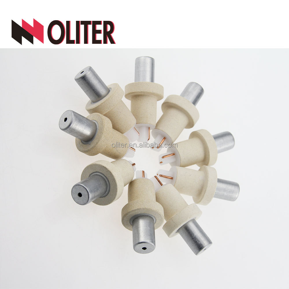 OLITER r type rapid response ptrh/ph disposable immersion expendable thermocouple for high <strong>temperature</strong> with 604 triangle tip