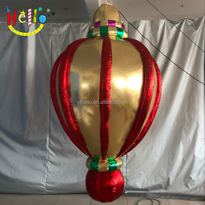 Shiny metal material Christmas Event roof Hanging Decoration Inflatable Ball