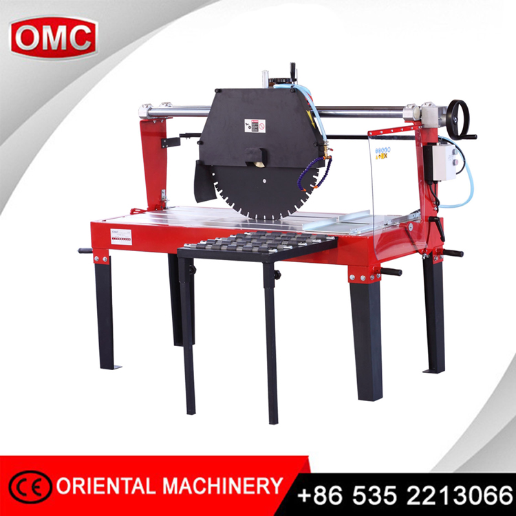 Big power OMC concrete stone block folded saw cutting machine