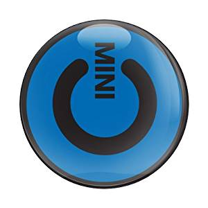GoBadges CD0387 Blue 'MINI Power' Magnetic Grill Badge
