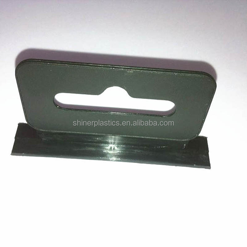Euro Hole Black Tab for Package Hanging on Display Hook