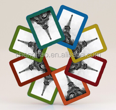 mini diy decorative picture frame magnet with different words for decors
