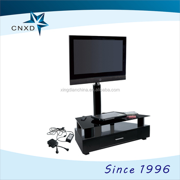 glass electric automatic tv lift stands with wireless remote control rh alibaba com