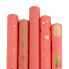 New Design Gold Foil Pattern Printed Watermelon Red Gift Wrapping Paper
