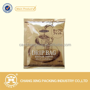 OEM manufactured aluminum foil sachet for drip bag coffee