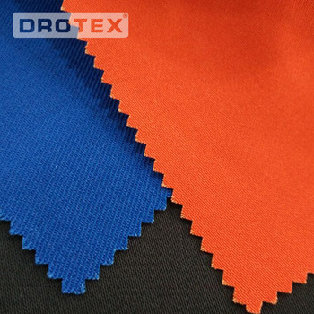 Navy or Green Color Cotton Satin 300GSM D59 Fire Resistance Fabric Supplier from China